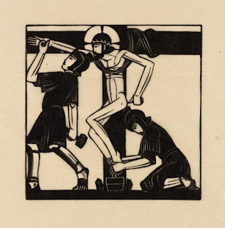 Eric Gill, Jesus is Nailed to the Cross, 1917, photo (c) Tate