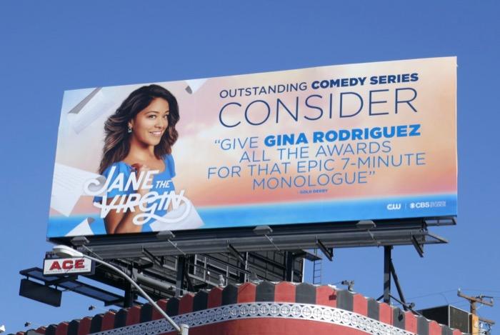 Jane the Virgin final season 5 Emmy FYC billboard