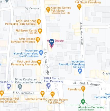 Map Letak Hotel Segoro Pemalang