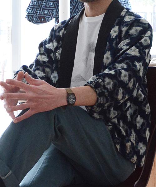 野良着 FUNS 藍染 絣 引っ張り ジャパンヴィンテージ アンティーク着物 Noragi Jacket Japanese Vintage Aizome Kasuri Fabric 40~50s