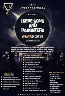 (Event) #ISADA2019 Biggest Live Performance/ Awards Night Hits The City Of Oju