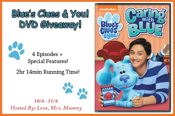 Blue's Clues & You! Caring With Blue DVD Giveaway!