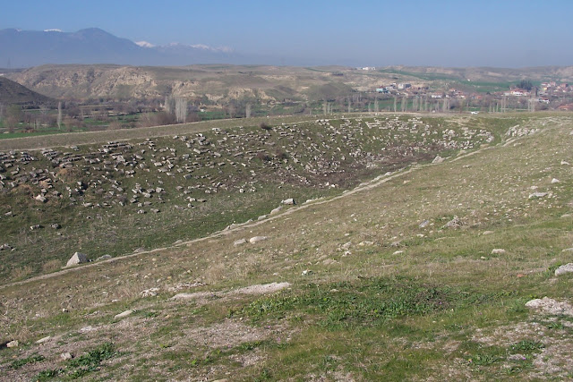 Stadium at ancient city of Laodicea under restoration