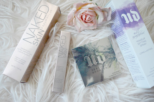 urban decay haul and makeup look
