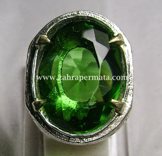 Cincin Batu Permata Green Tektite