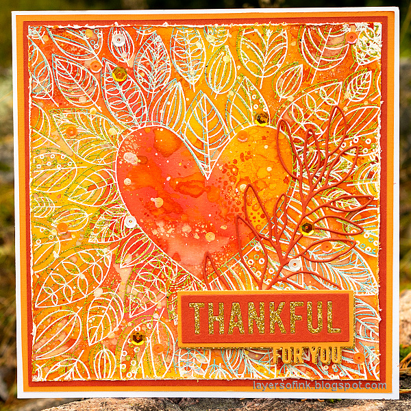 Layers of ink - Inky Heart Autumn Card Tutorial by Anna-Karin Evaldsson.