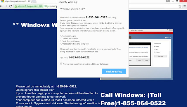 Windows Defender – Security Warning (Scam)