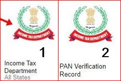 1st income tax department 2nd pan verification record par click kare
