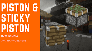How To Make Piston And Sticky Piston In Minecraft