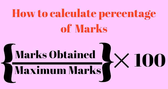 How to Calculate Percentage of Marks