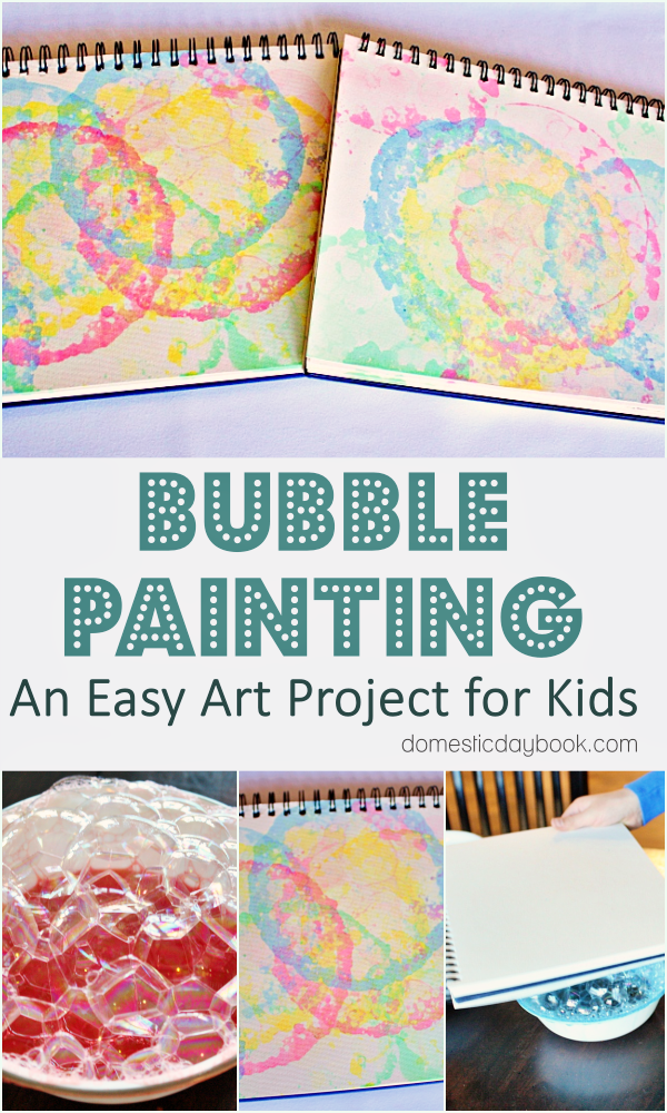 Bubble Art for Kids tutorial