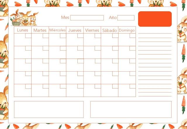 Calendario mensual de pascua 2020 gratis