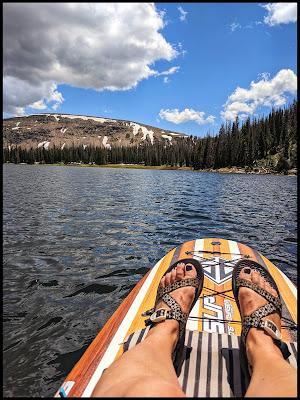 Paddleboard Kayaking on Moosehorn Lake