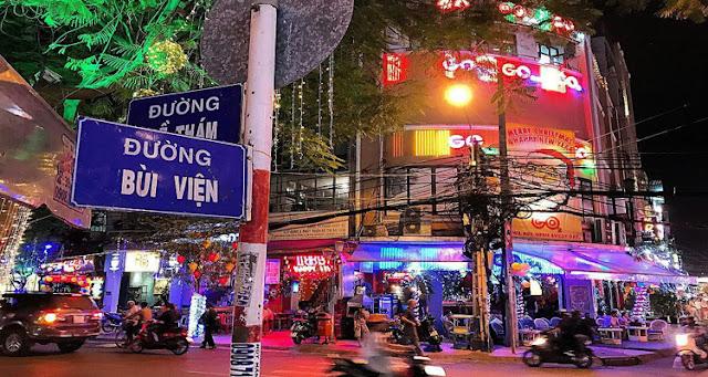 Bui Vien west street.