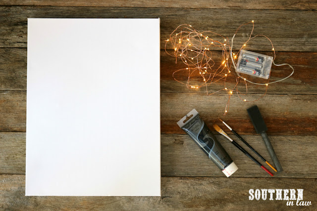 Cheap Easy DIY Light Box Canvas Art Project Ideas - under $10, weekend projects, craft, how to make, budget friendly, painting, LED fairy lights, kids bedroom, night light, custom lamp, unique quote wall decor