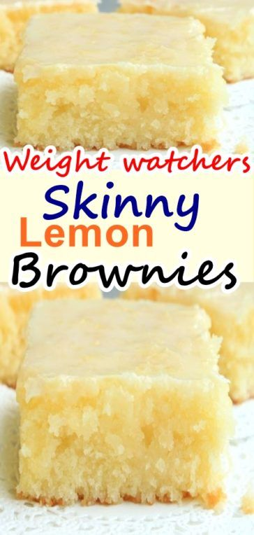 Skinny lemon brownies weight watchers – Weight Watchers Recipes