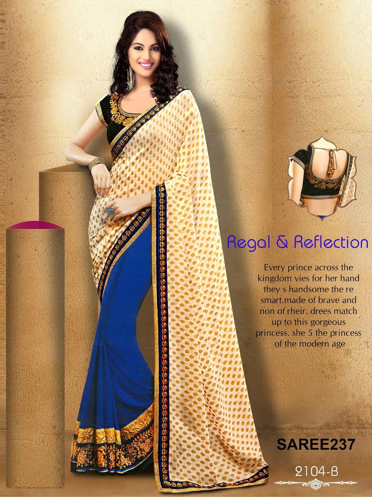 Online Shopping Latest Bhagalpuri Art Silk Sarees: Designer Half Party Wear Sarees Online Shopping
