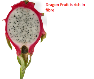 Dragon Fruit is rich in fibre