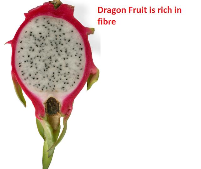 Dragon Fruit is rich in fibre