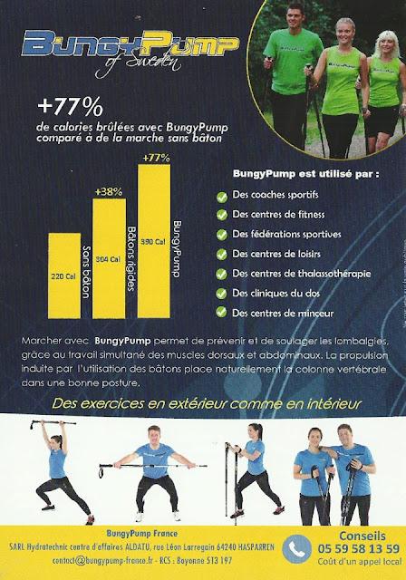 +77% de calories brûlées avec Bungy Pump comparées à de la marche sans bâtons
