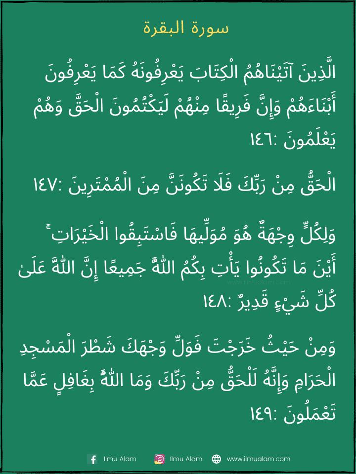Surah Al Baqarah Ayat 146-153