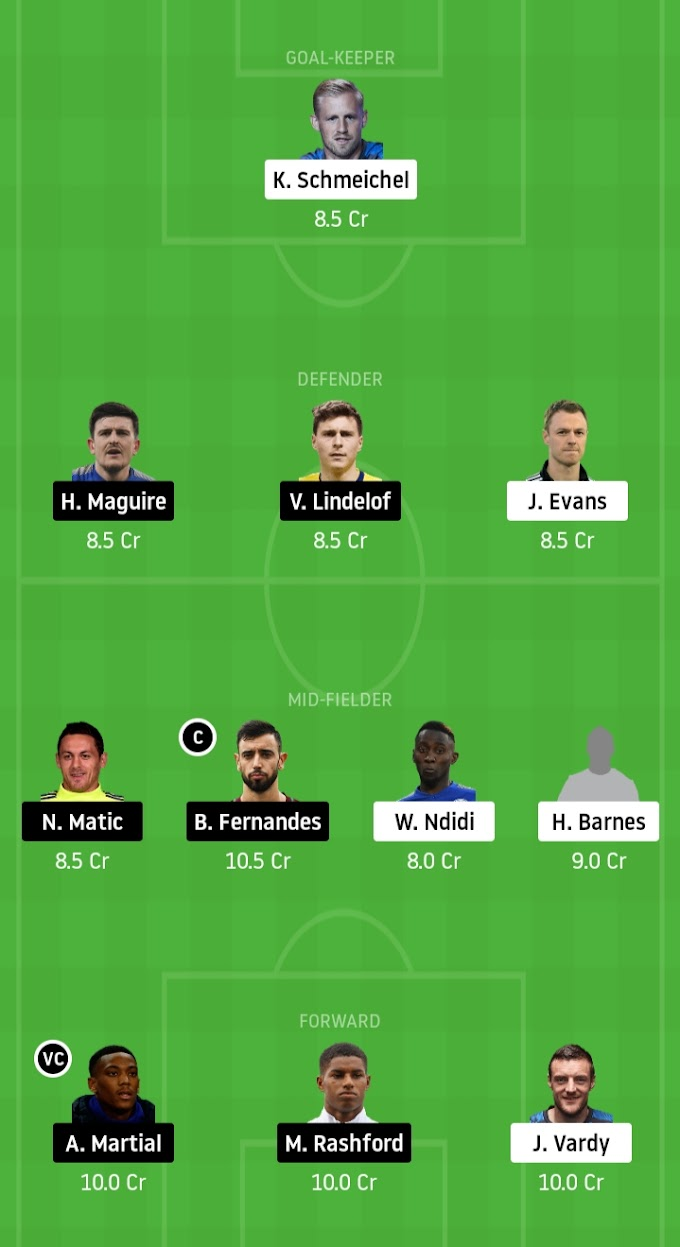 Premier League 2019-20 - Do Or Die Time At The King Power, LEI Vs MUN Dream11 Prediction