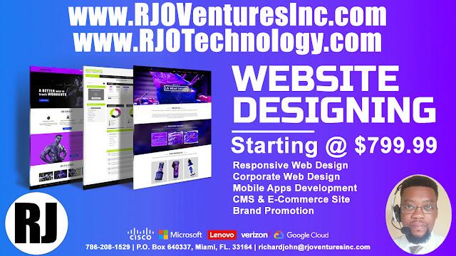 Website Design Services; Web Development Services. (www.RJOTechnology.com)