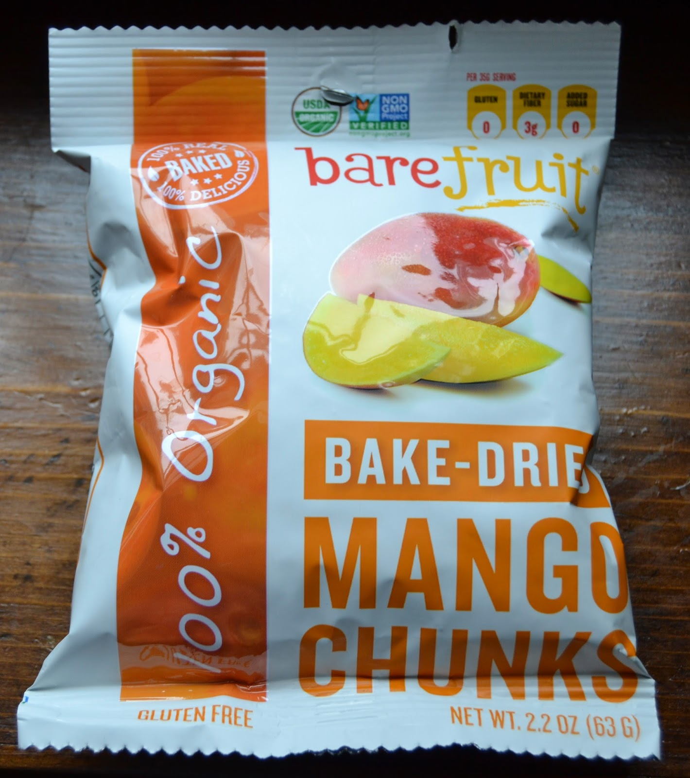 Bare Fruit Bake-Dried Mango Chunks