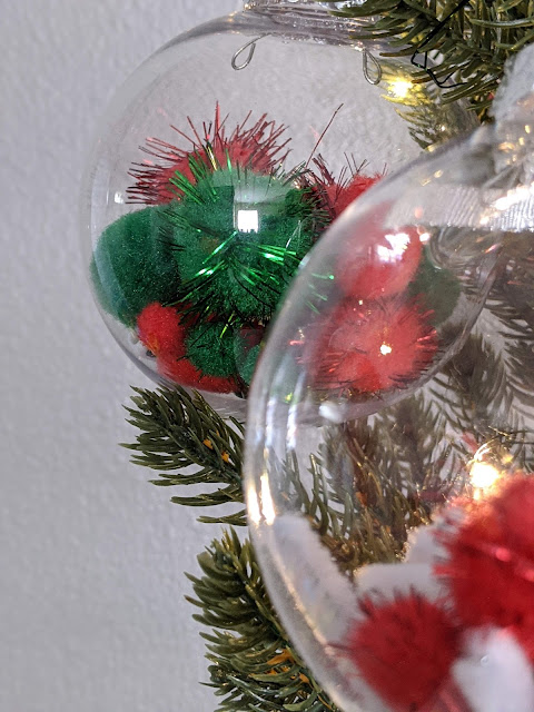 DIY Christmas ornament station for kids
