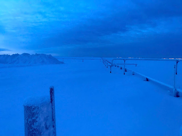 Barrow Alaska Gas Field Rig and Pipeline (c) 2020 Supratim Sanyal