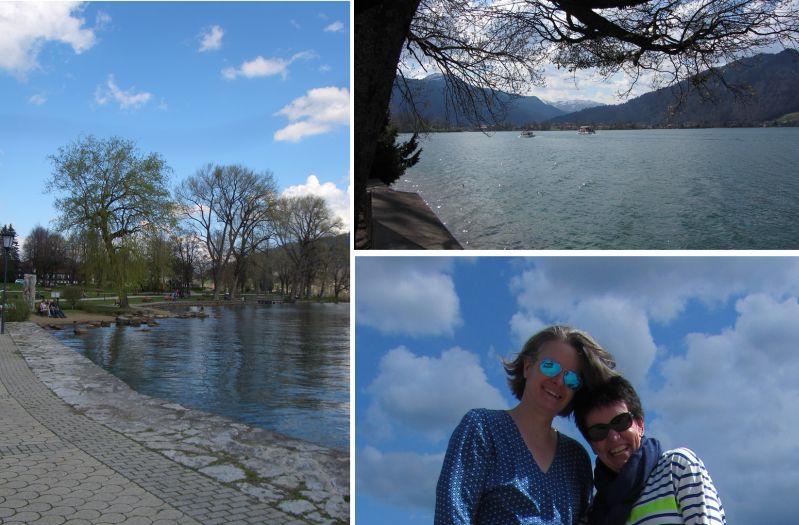 Weißblauer Himmel am Tegernsee