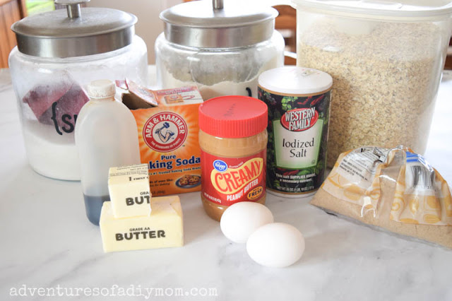 ingredients needed for peanut butter bars