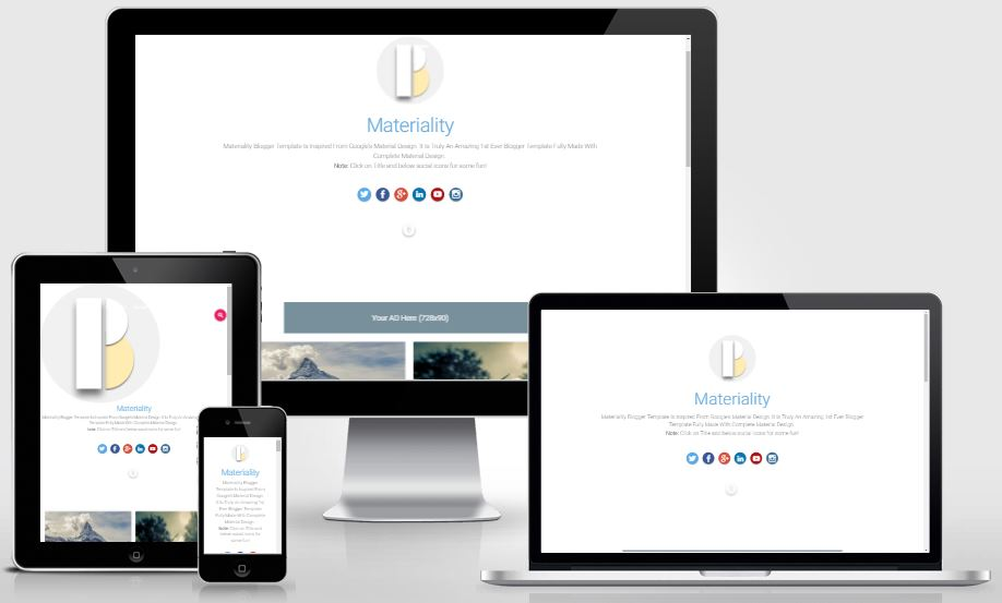 Materiality – Material Design Blogger Template