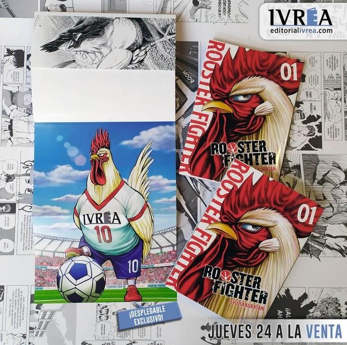 Rooster Fighter de Ivrea tendrá una ilustración exclusiva para la edición española.