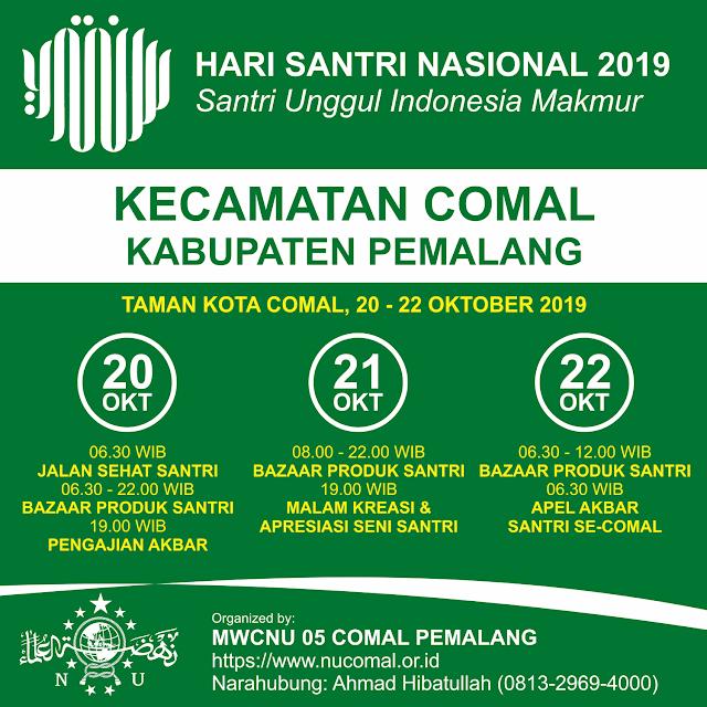 Hari Santri Nasional 2019 Kecamatan Comal Pemalang