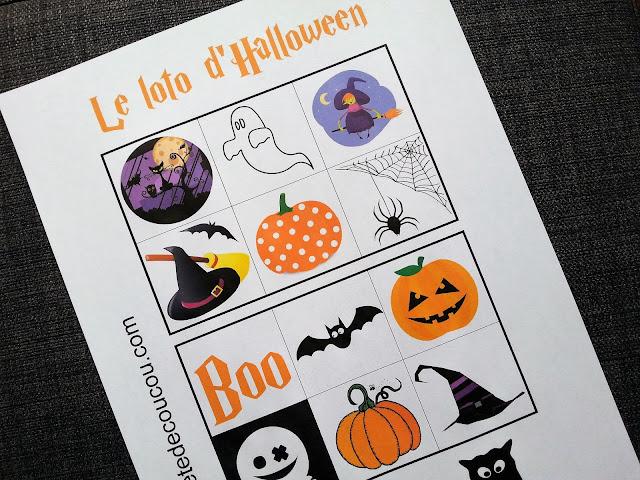 memory loto Halloween Tête de coucou à imprimer