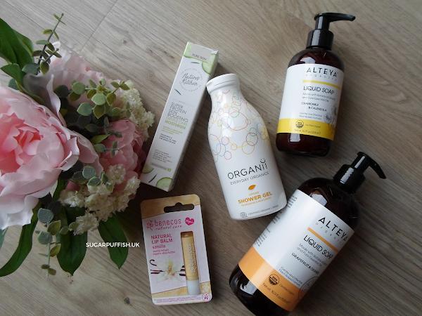 Review for Love Lula - Alteya Liquid Soap, Benecos Lip Balm, Organii Shower Gel, Nature's Kitchen Moisturiser