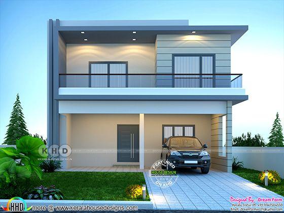 Flat roof contemporary home design