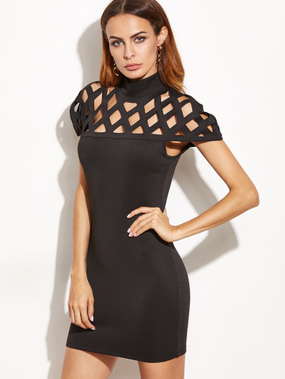 cheap party cut out dress mini