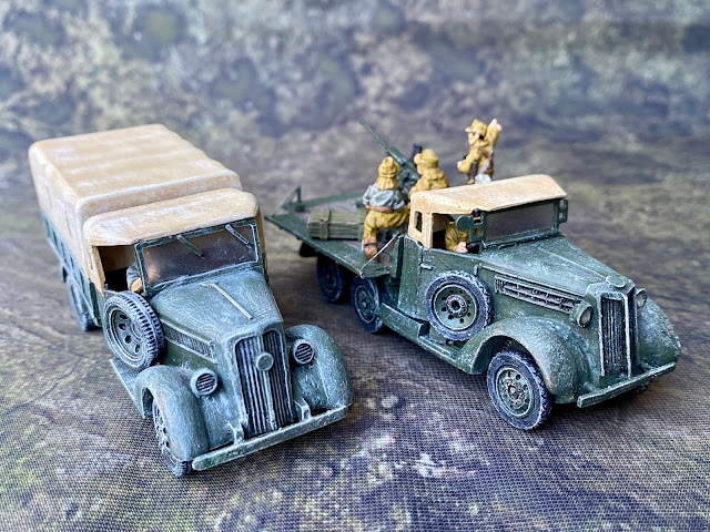 Bolt Action 28mm Company B Type 94 Truck vs Warlord Type 97 Truck Sizes