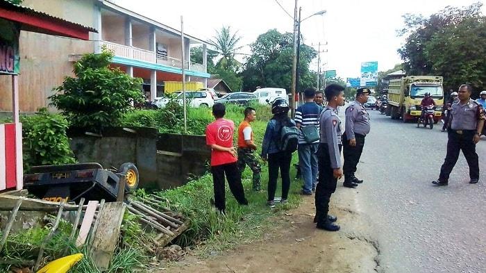 Rem Blong Mobil Patroli Polres Sekadau Nyosor Keparit