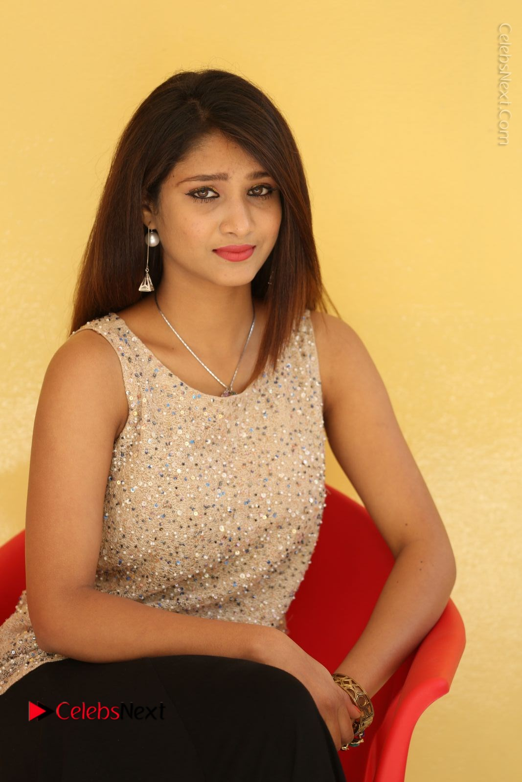 Arthi Stills in Black Skirt at Plus 1 Movie Trailer Launch