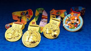 Hong Kong Disneyland 10K Weekend 2019 médailles