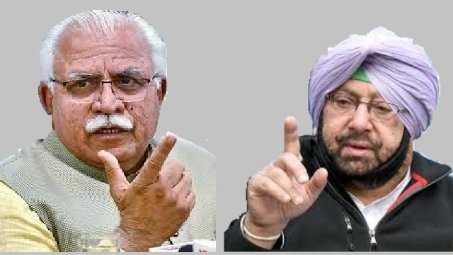 manohar lal khattar and captain amrinder singh