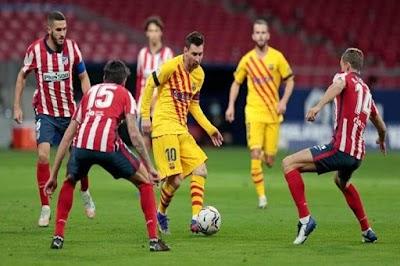 تشكيل مواجهة أتليتكو مدريد وبرشلونه في الدوري الاسباني