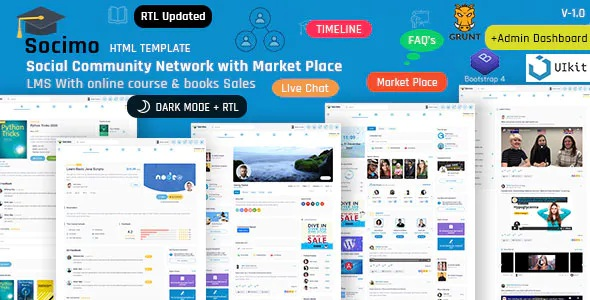 Best Social Community Network and LMS HTML5 Template