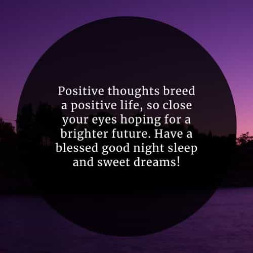 Inspirational good night quotes for her and him
