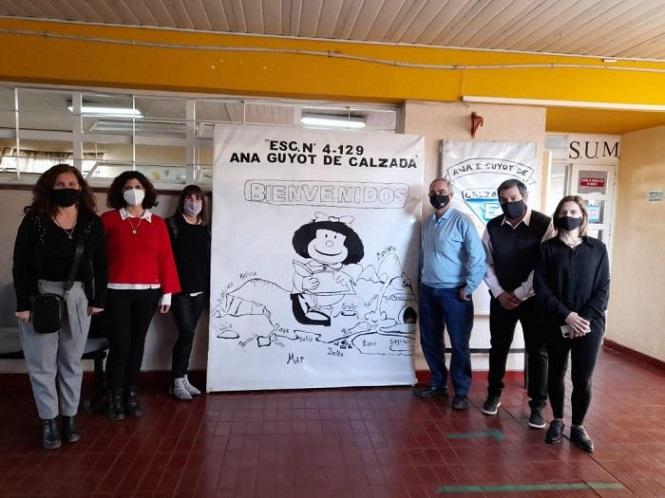 Autoridades de DGE recorrieron escuelas en San Rafael
