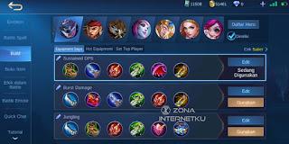 Build and emblem Saber Sick in Mobile Legends