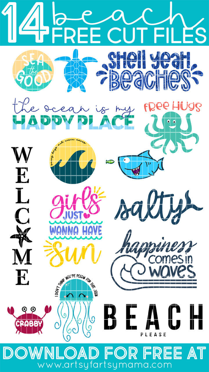 14 Free Beach SVG Cut Files